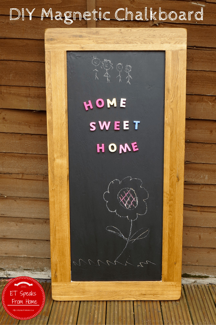 Best ideas about DIY Magnetic Chalkboard . Save or Pin DIY Magnetic Chalkboard ET Speaks From Home Now.