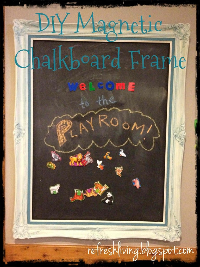 Best ideas about DIY Magnetic Chalkboard . Save or Pin Framed Magnetic Chalkboard Wall Refresh Living Now.