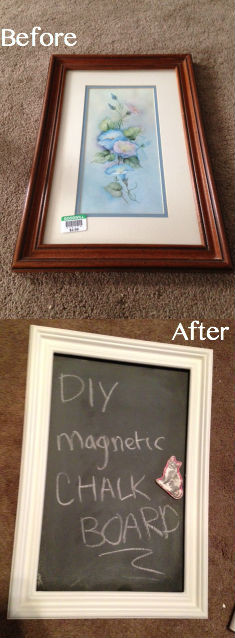 Best ideas about DIY Magnetic Chalkboard . Save or Pin DIY Magnetic Chalkboard – My Life As Kim Now.