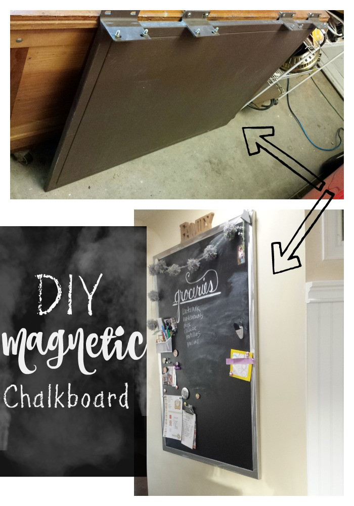 Best ideas about DIY Magnetic Chalkboard . Save or Pin DIY Magnetic Chalkboard Salvage Sister and Mister Now.