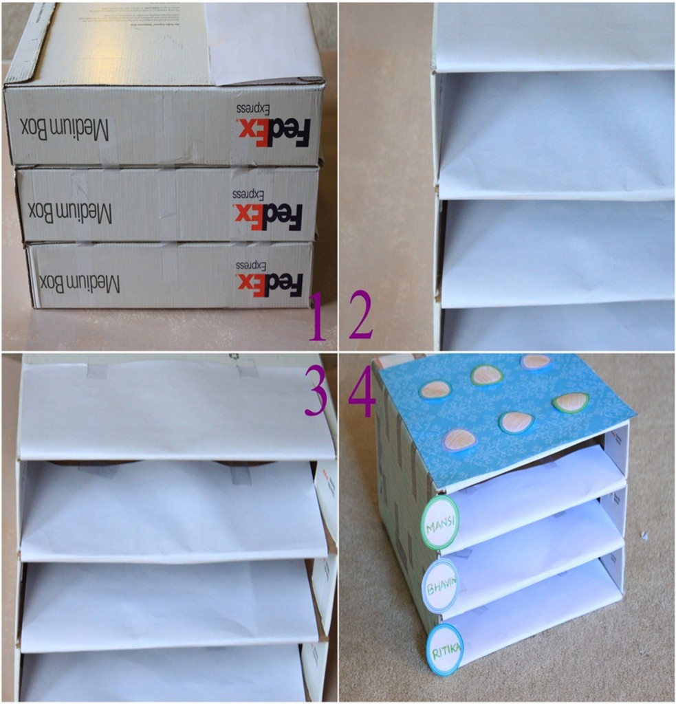 Best ideas about DIY Mail Organizer Cardboard . Save or Pin DiY Cardboard Organizer Now.