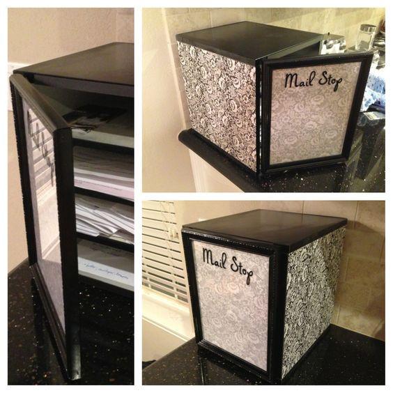 Best ideas about DIY Mail Organizer Cardboard . Save or Pin DIY Mail organizer bill sorter dry erase board Spray Now.