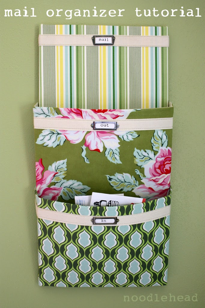 Best ideas about DIY Mail Organizer Cardboard . Save or Pin mail organizer tutorial Noodlehead Now.
