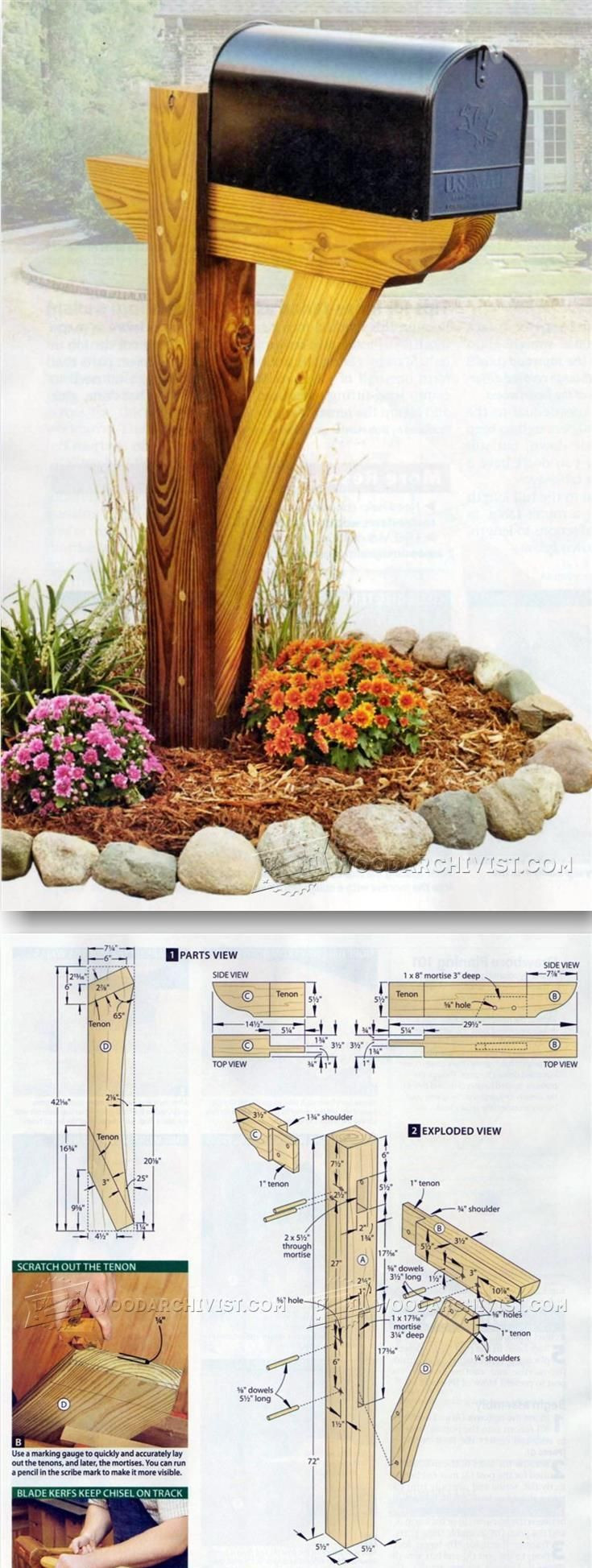 Best ideas about DIY Mailbox Plans . Save or Pin 25 best ideas about Mailbox post on Pinterest Now.