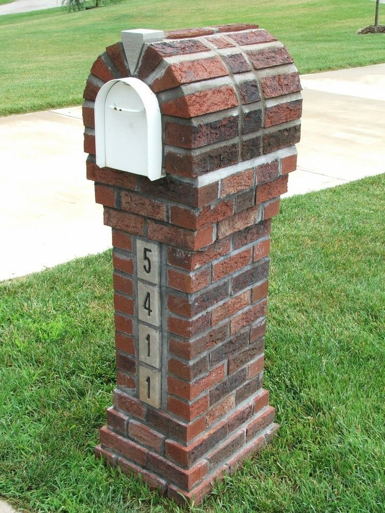 Best ideas about DIY Mailbox Plans . Save or Pin elegant and slim brick mailbox design idea on green grassy Now.