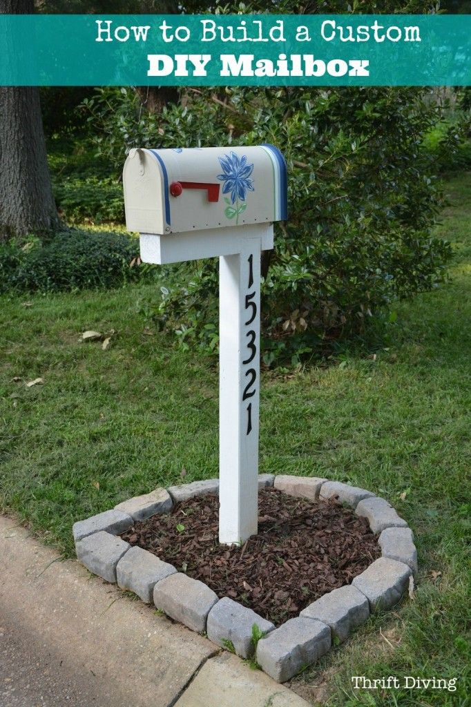 Best ideas about DIY Mailbox Plans . Save or Pin Building A Stone Mailbox Post WoodWorking Projects & Plans Now.