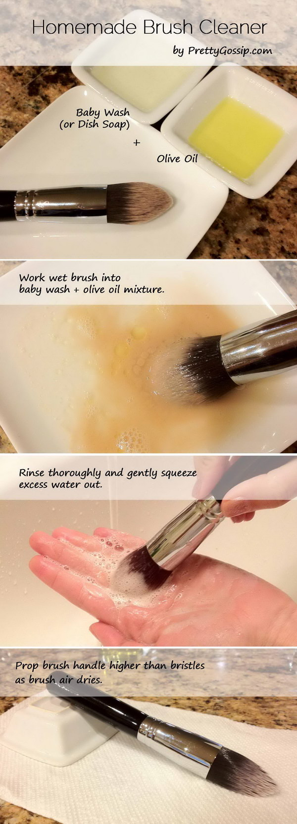 Best ideas about DIY Makeup Brush Cleaner . Save or Pin 15 Creative Makeup Cleaning Ideas & Tutorials Now.