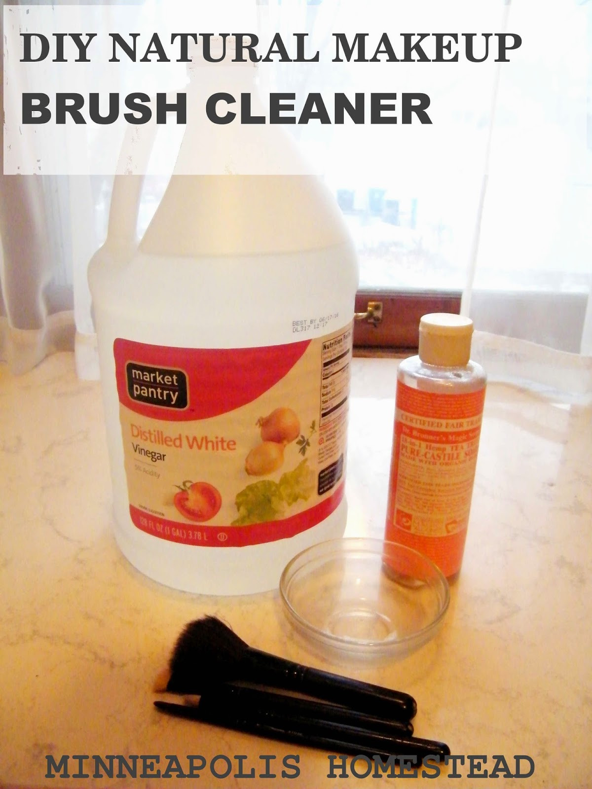 Best ideas about DIY Makeup Brush Cleaner . Save or Pin DIY Natural Makeup Brush Cleaner Minneapolis Homestead Now.