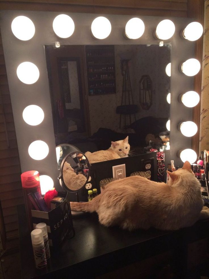 Best ideas about DIY Makeup Mirrors With Lights . Save or Pin DIY Vanity Mirror Now.