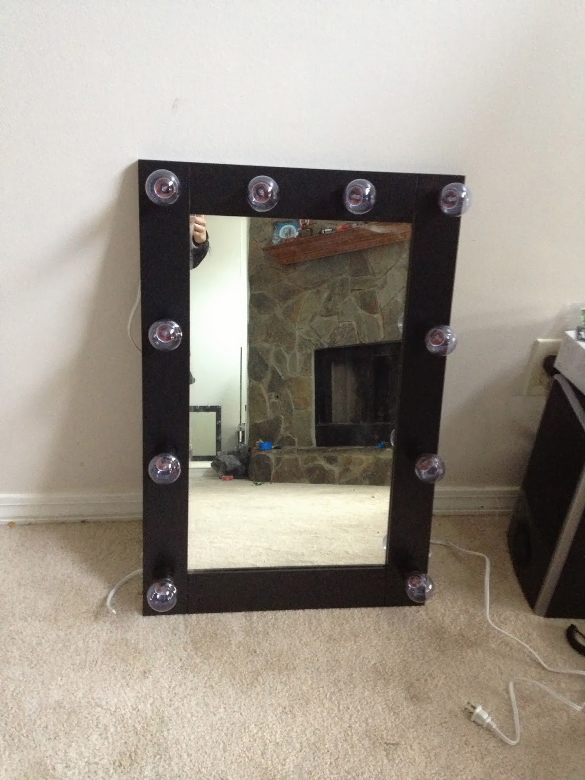 Best ideas about DIY Makeup Mirrors With Lights . Save or Pin Beauty Fashion and Lifestyle Blog DIY Lighted Makeup Now.