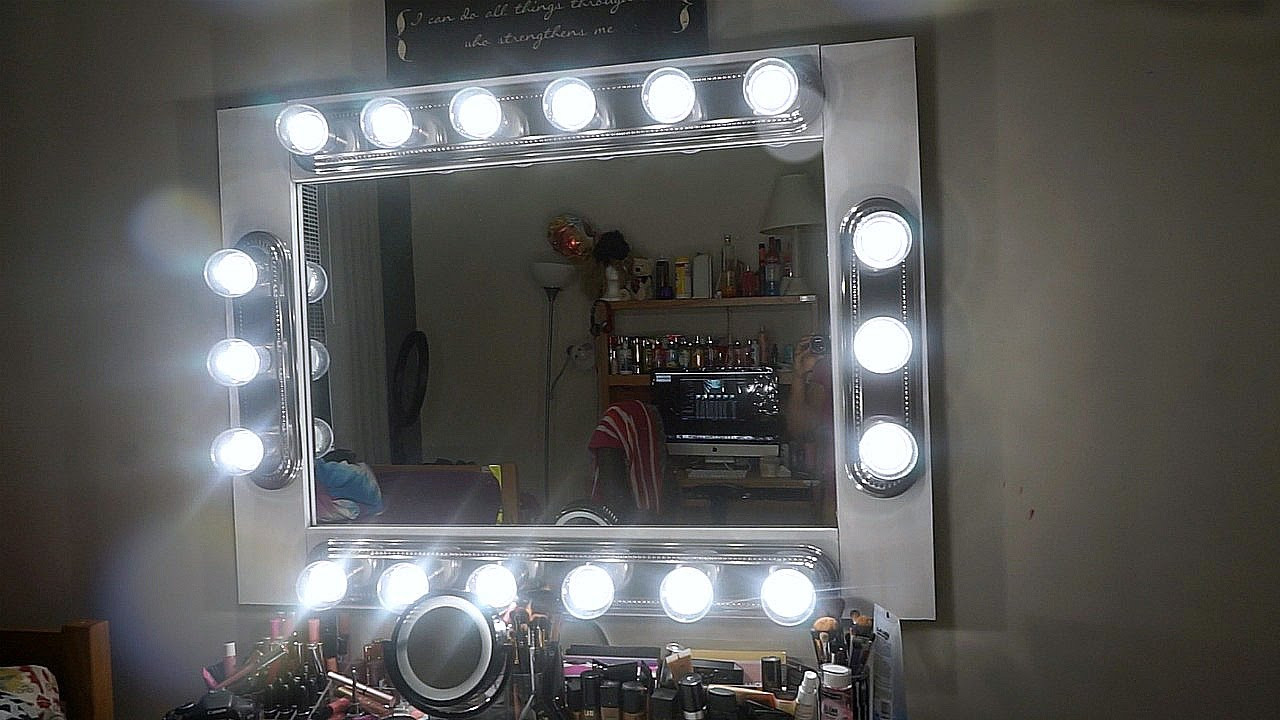 Best ideas about DIY Makeup Mirrors With Lights . Save or Pin DIY MAKEUP VANITY MIRROR WITH LIGHTS Now.