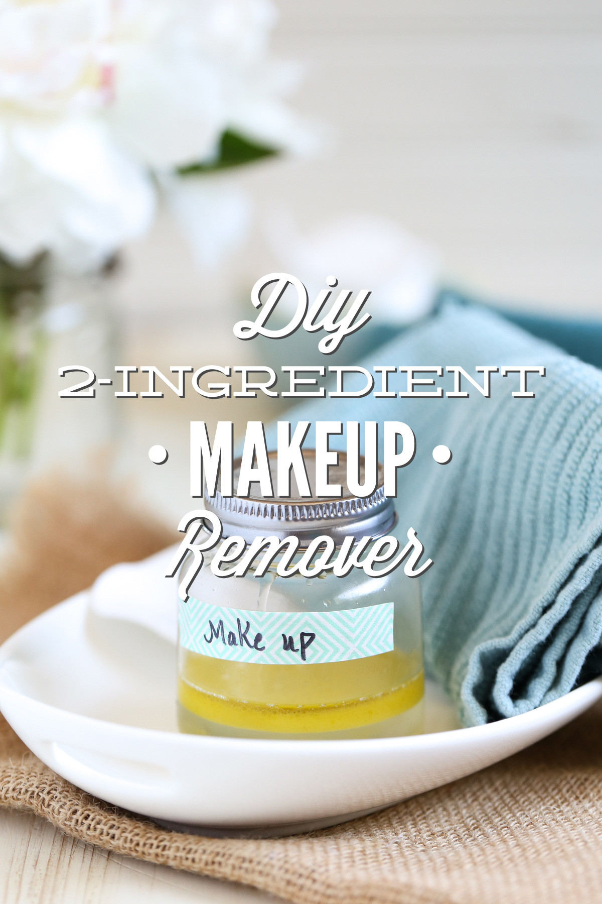 Best ideas about DIY Makeup Remover . Save or Pin DIY 2 Ingre nt Makeup Remover Without Coconut Oil Now.