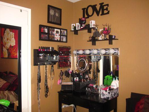 Best ideas about DIY Makeup Vanity Lighting . Save or Pin My Makeup Vanity Area DIY vanity lights under $100 Now.