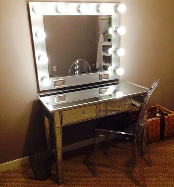 Best ideas about DIY Makeup Vanity Lighting . Save or Pin My DIY Vanity Mirror AFTER with LED lights for a LOT Now.
