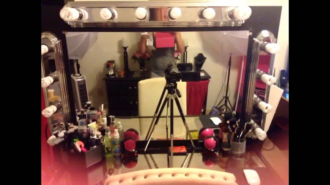 Best ideas about DIY Makeup Vanity Lighting . Save or Pin DIY Makeup Vanity With Lighting Now.