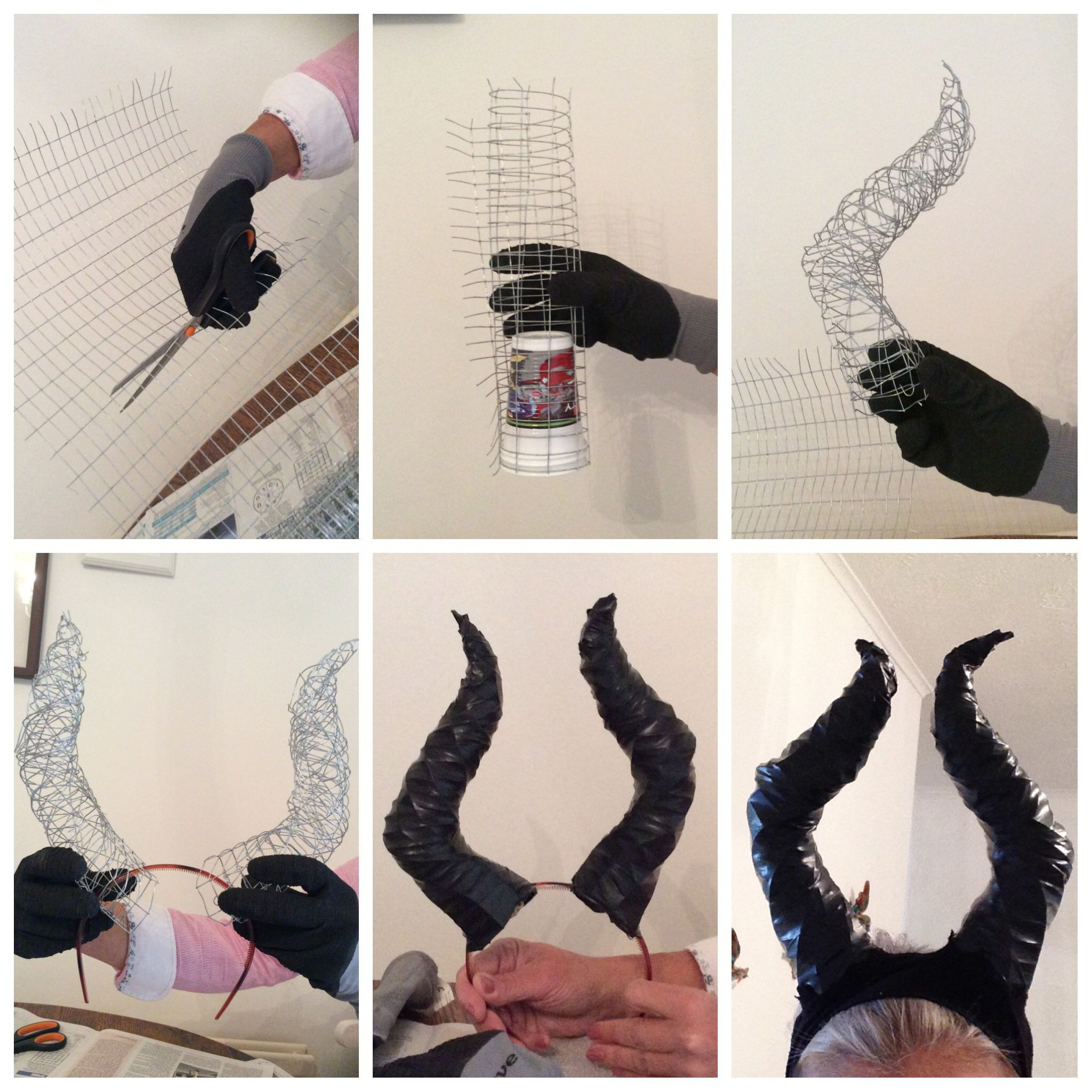 Best ideas about DIY Maleficent Horns . Save or Pin DIY Maleficent horns plastic cup chicken wire black Now.