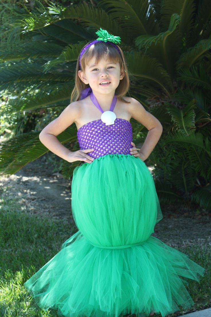 """Best ideas about DIY Mermaid Halloween Costumes . Save or Pin Ariel """"The Little Mermaid"""" Inspired Tutu Costume Now."""
