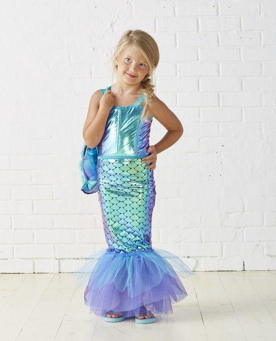Best ideas about DIY Mermaid Halloween Costumes . Save or Pin Kids Mermaid Costume Now.