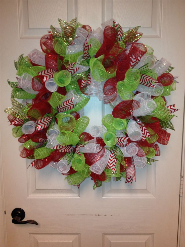 Best ideas about DIY Mesh Christmas Wreath . Save or Pin 10 ideas about Christmas Mesh Wreaths on Pinterest Now.