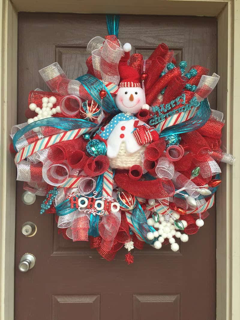 Best ideas about DIY Mesh Christmas Wreath . Save or Pin 12 Ideas for Christmas Mesh Wreaths DIY Candy Now.