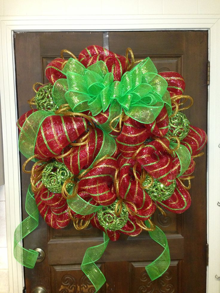 Best ideas about DIY Mesh Christmas Wreath . Save or Pin 300 best images about Crafts Christmas Wreaths on Now.