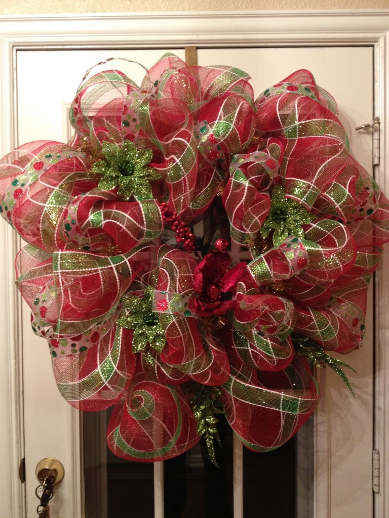 Best ideas about DIY Mesh Christmas Wreath . Save or Pin DIY Deco Mesh Christmas Wreath Now.