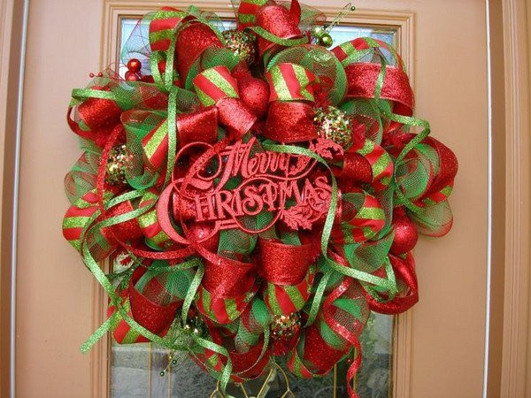 Best ideas about DIY Mesh Christmas Wreath . Save or Pin Warm & Sweet Christmas Wreaths 29 DIY Wreaths and Now.