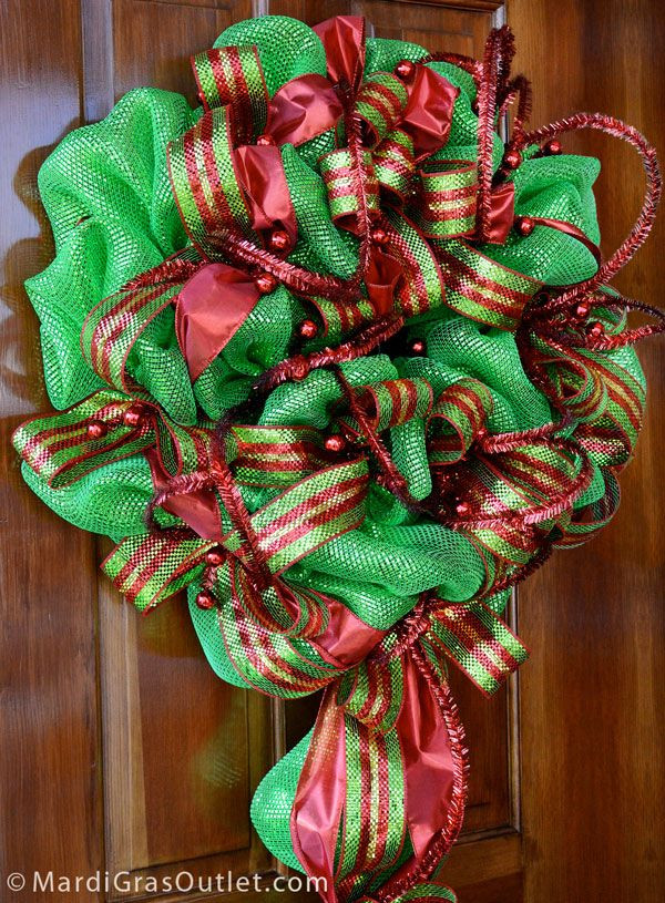 Best ideas about DIY Mesh Christmas Wreath . Save or Pin 1000 images about Mesh Wreaths on Pinterest Now.