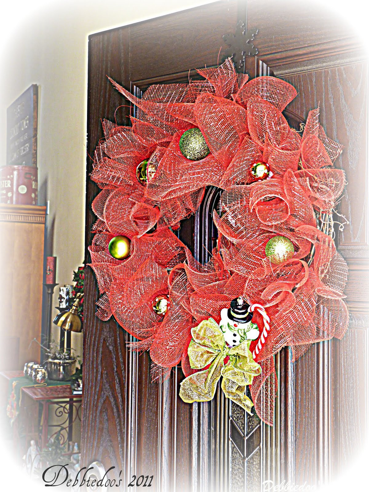 Best ideas about DIY Mesh Christmas Wreath . Save or Pin Mesh Christmas Wreath on the Front door diy Debbiedoos Now.