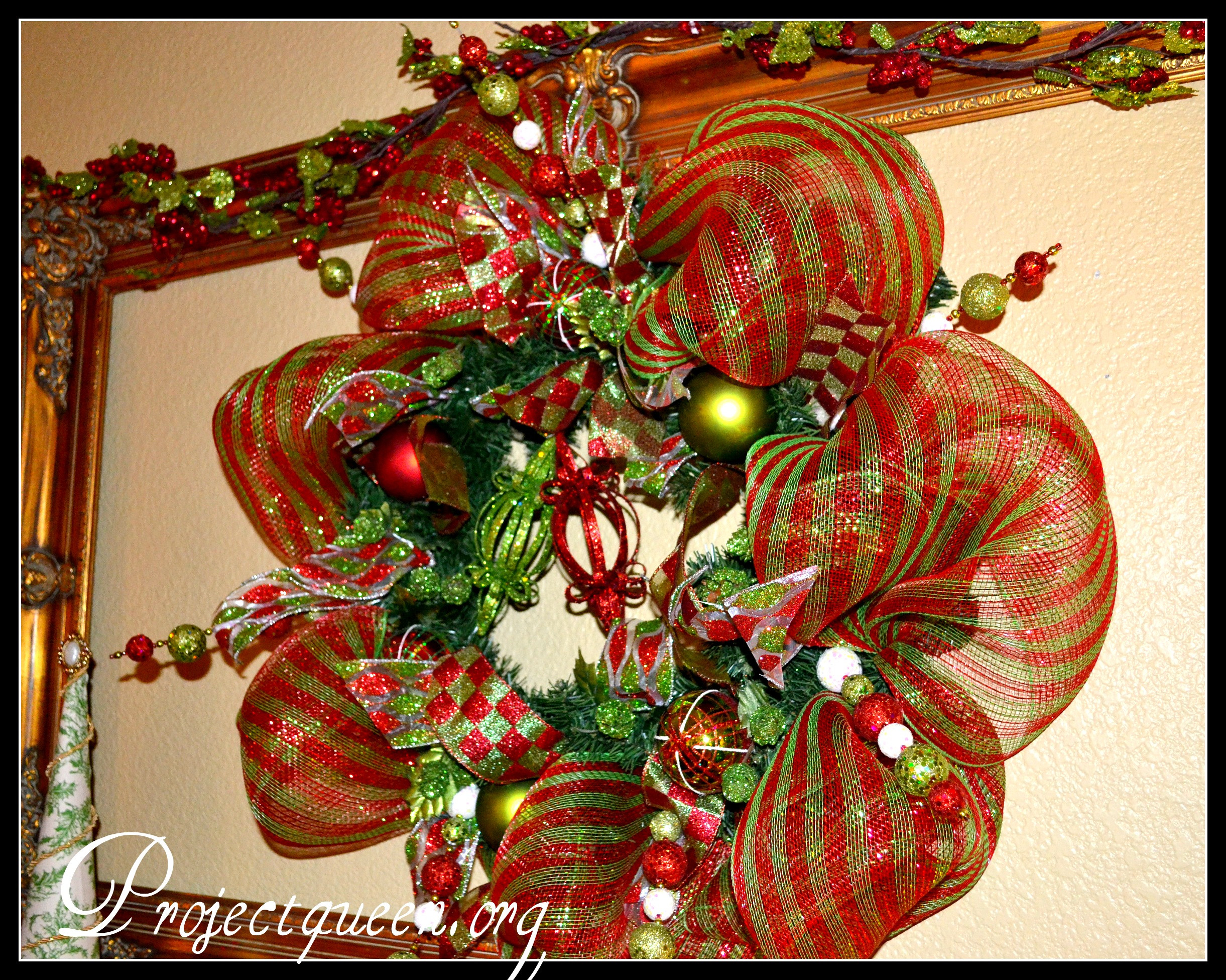 Best ideas about DIY Mesh Christmas Wreath . Save or Pin Mesh Christmas Wreath Tutorial Re posted from last year Now.