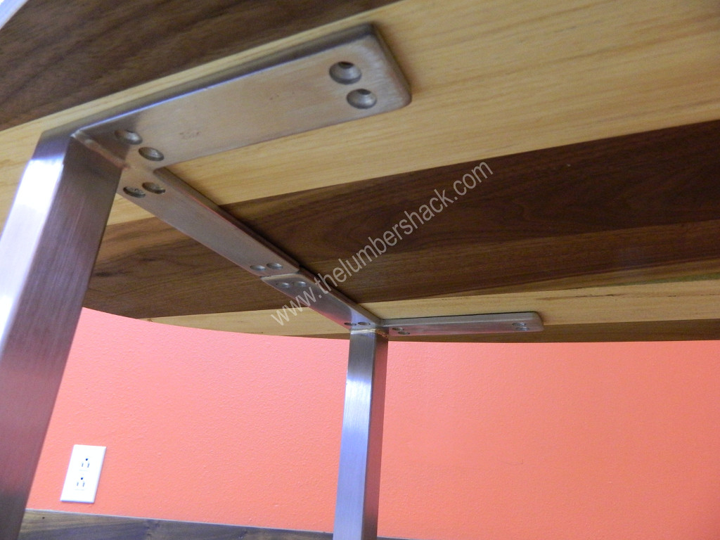 """Best ideas about DIY Metal Table Legs . Save or Pin 4 DIY Square 5 1 16"""" Brushed Chrome Steel Modern Furniture Now."""
