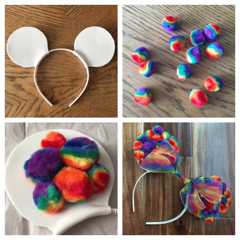 Best ideas about DIY Mickey Ears . Save or Pin DIY Rainbow Mickey Ears This Fairy Tale Life Now.