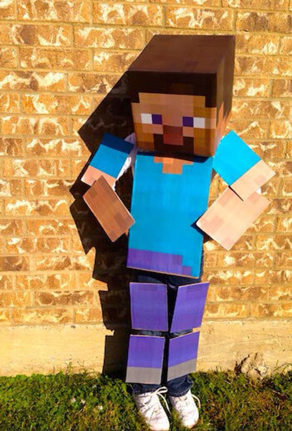 Best ideas about DIY Minecraft Costume . Save or Pin Minecraft Costume Full Body DIY Kit Steve Creeper by LemurApps Now.