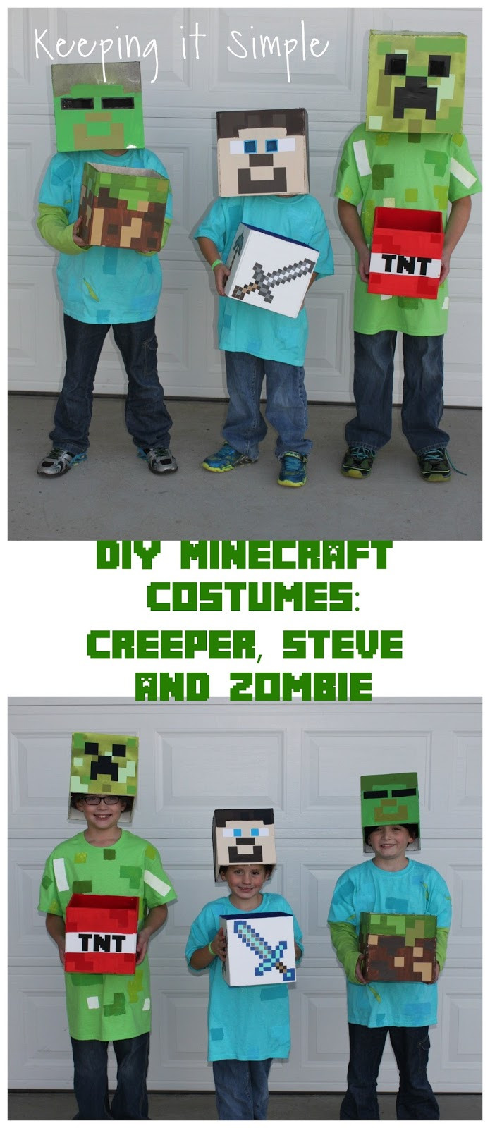 Best ideas about DIY Minecraft Costume . Save or Pin DIY Minecraft Costumes Creeper Steve and Zombie Costume Now.