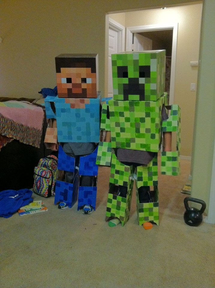 Best ideas about DIY Minecraft Costume . Save or Pin Homemade Minecraft Costume Now.