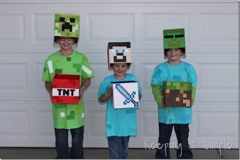 Best ideas about DIY Minecraft Costume . Save or Pin Keeping it Simple DIY Minecraft Creeper Steve and Zombie Now.