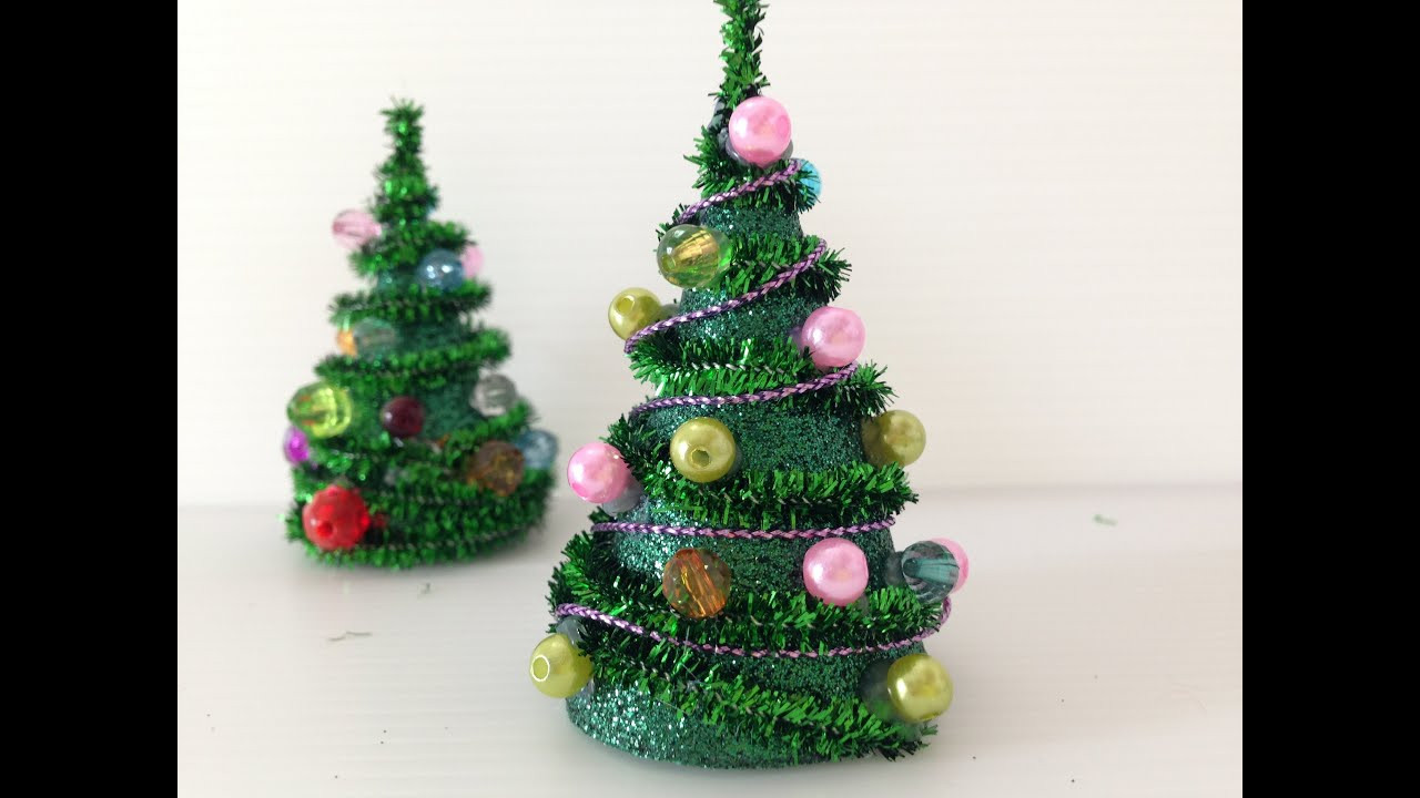 Best ideas about DIY Mini Christmas Trees . Save or Pin DIY mini Pipe Cleaner Christmas Tree Now.
