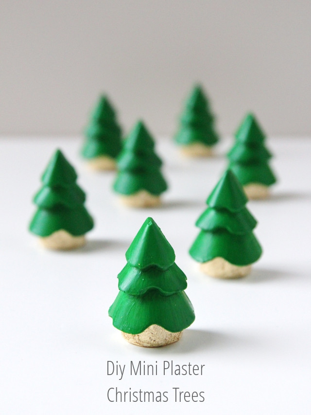 Best ideas about DIY Mini Christmas Trees . Save or Pin DIY MINI PLASTER CHRISTMAS TREE DECORATIONS Now.