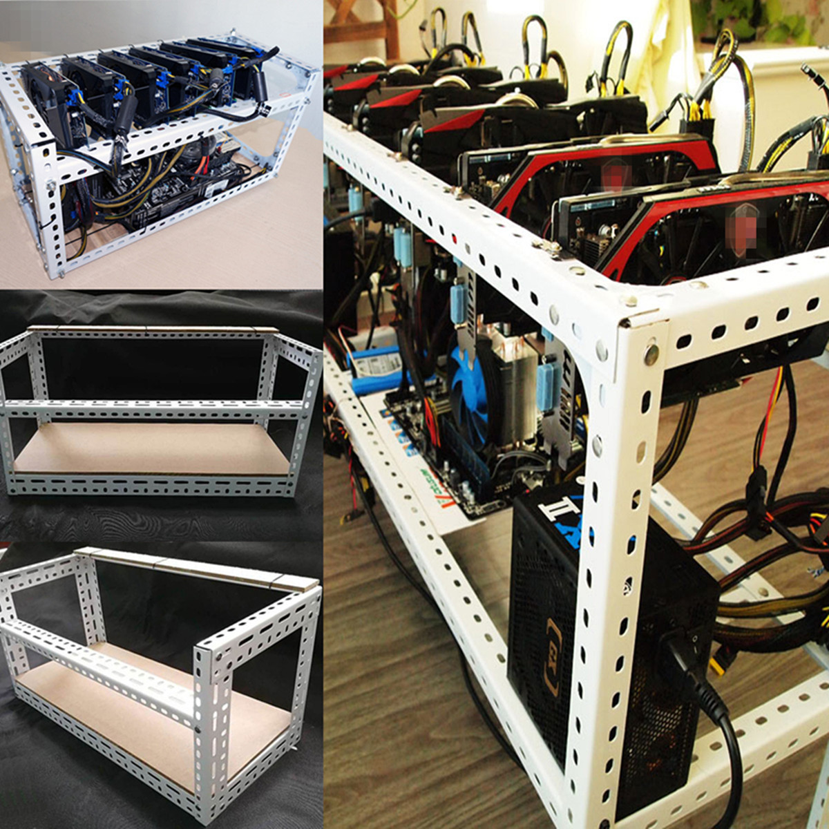 Best ideas about DIY Mining Rig Frame . Save or Pin DIY Aluminum Frame For 4 GPU Mining Crypto currency Mining Now.