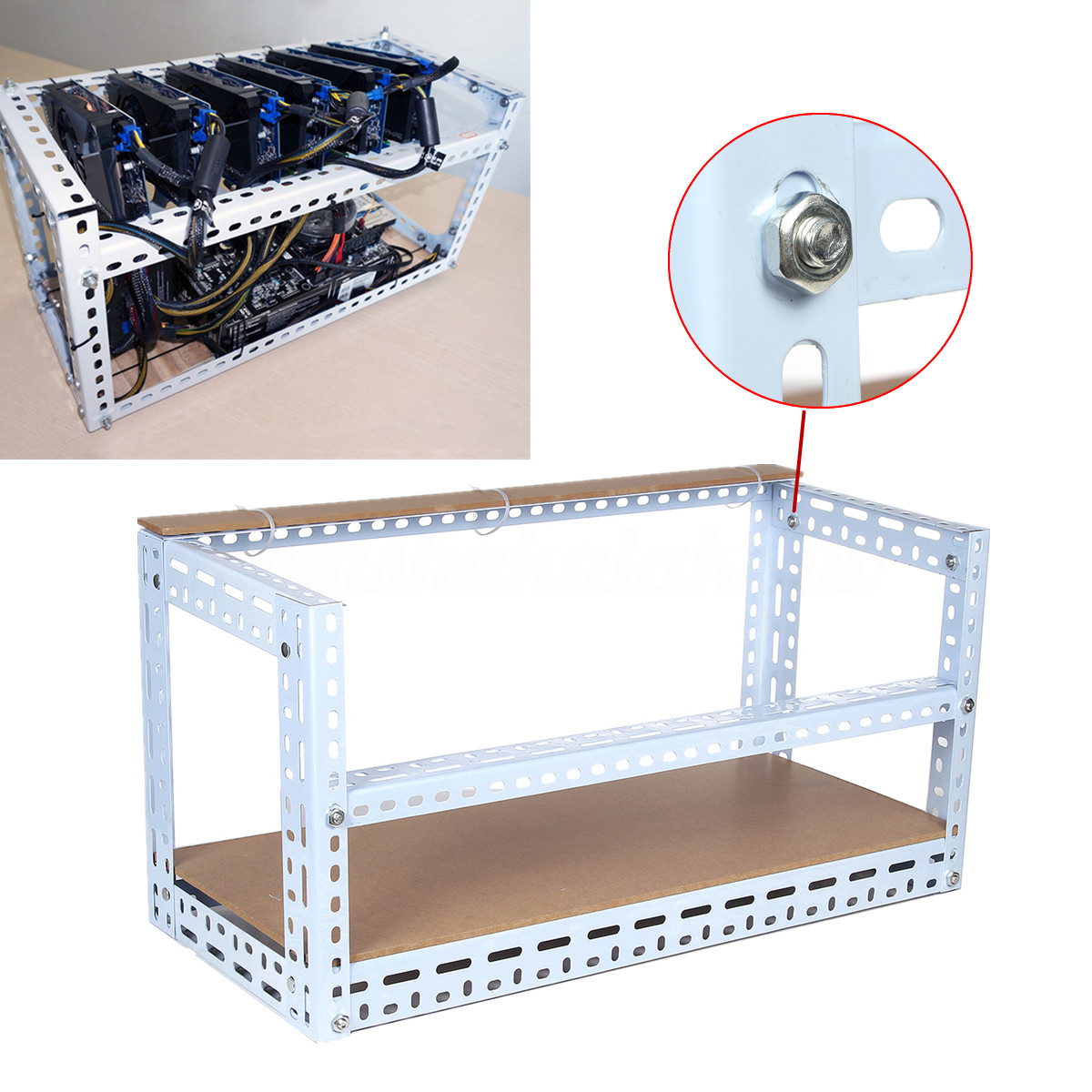 Best ideas about DIY Mining Rig Frame . Save or Pin DIY Crypto Coin Open Air Frame Mining Rig Case Steel Shelf Now.
