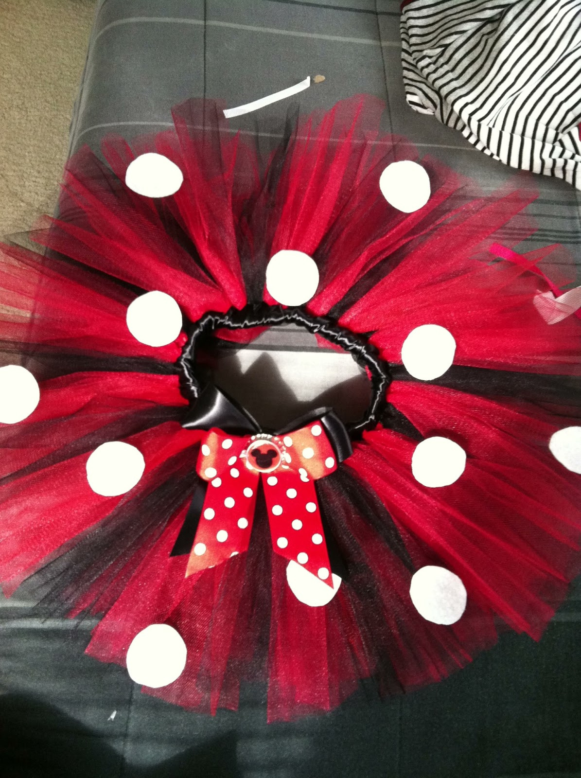 Best ideas about DIY Minnie Mouse Costume Tutu . Save or Pin Life with an Army Wife Minnie Mouse Tutu Tutorial Now.