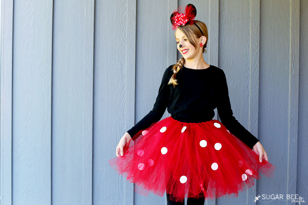 Best ideas about DIY Minnie Mouse Costume Tutu . Save or Pin DIY Minnie Mouse Costume yep NO sew Sugar Bee Crafts Now.