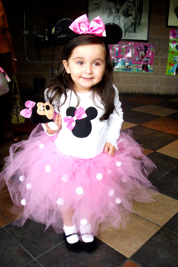 Best ideas about DIY Minnie Mouse Costume Tutu . Save or Pin Minnie Mouse Tutu Costume shirt headband tutu 3T and up Now.