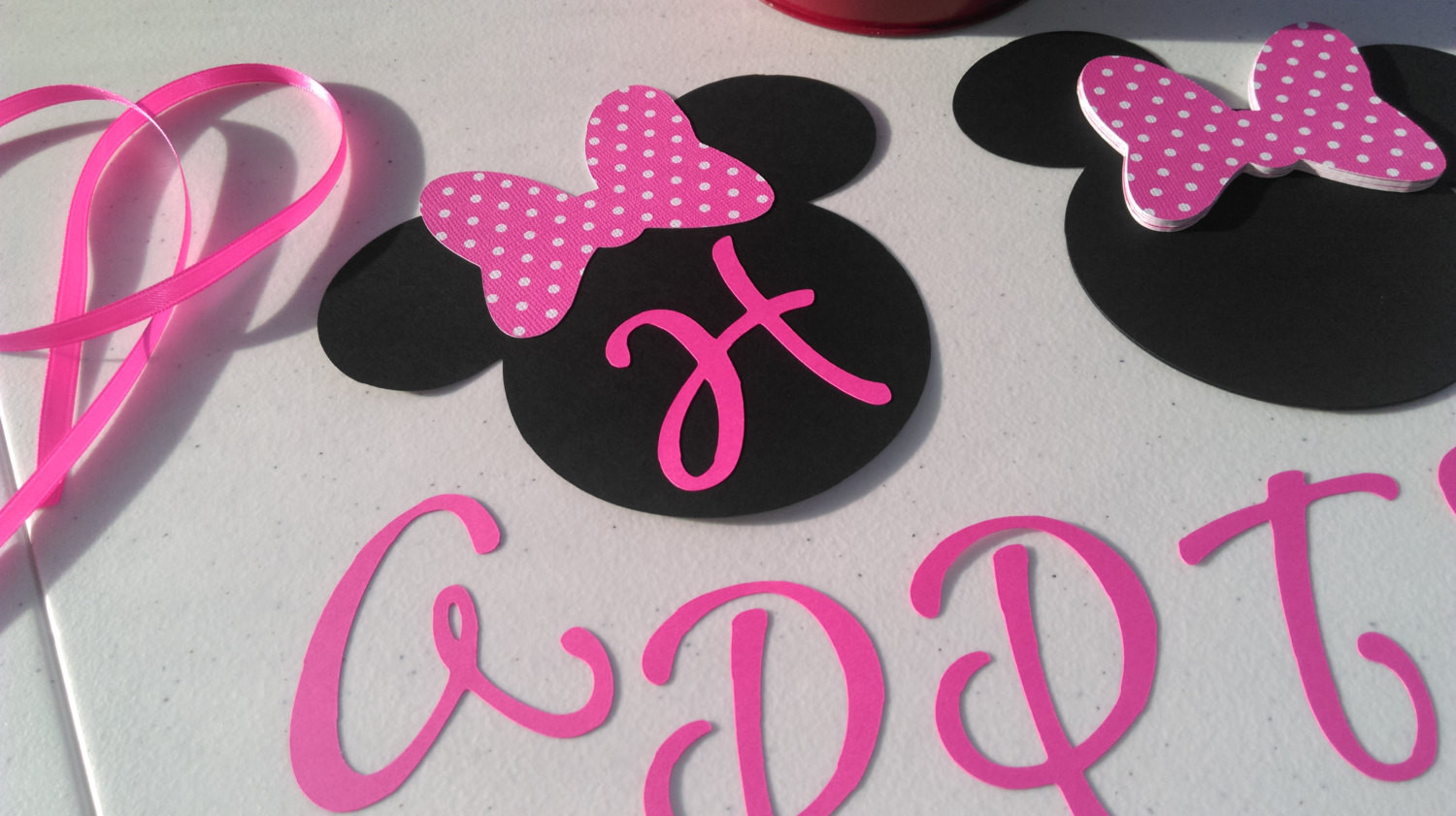 Best ideas about DIY Minnie Mouse Decorations . Save or Pin DIY Minnie Mouse Birthday Banner Birthday Decorations DIY Now.