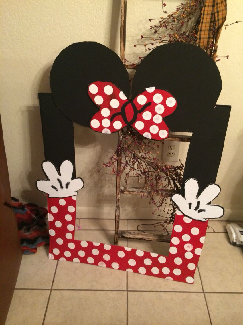 Best ideas about DIY Minnie Mouse Decorations . Save or Pin DIY Minnie Mouse photo booth selfie board Now.