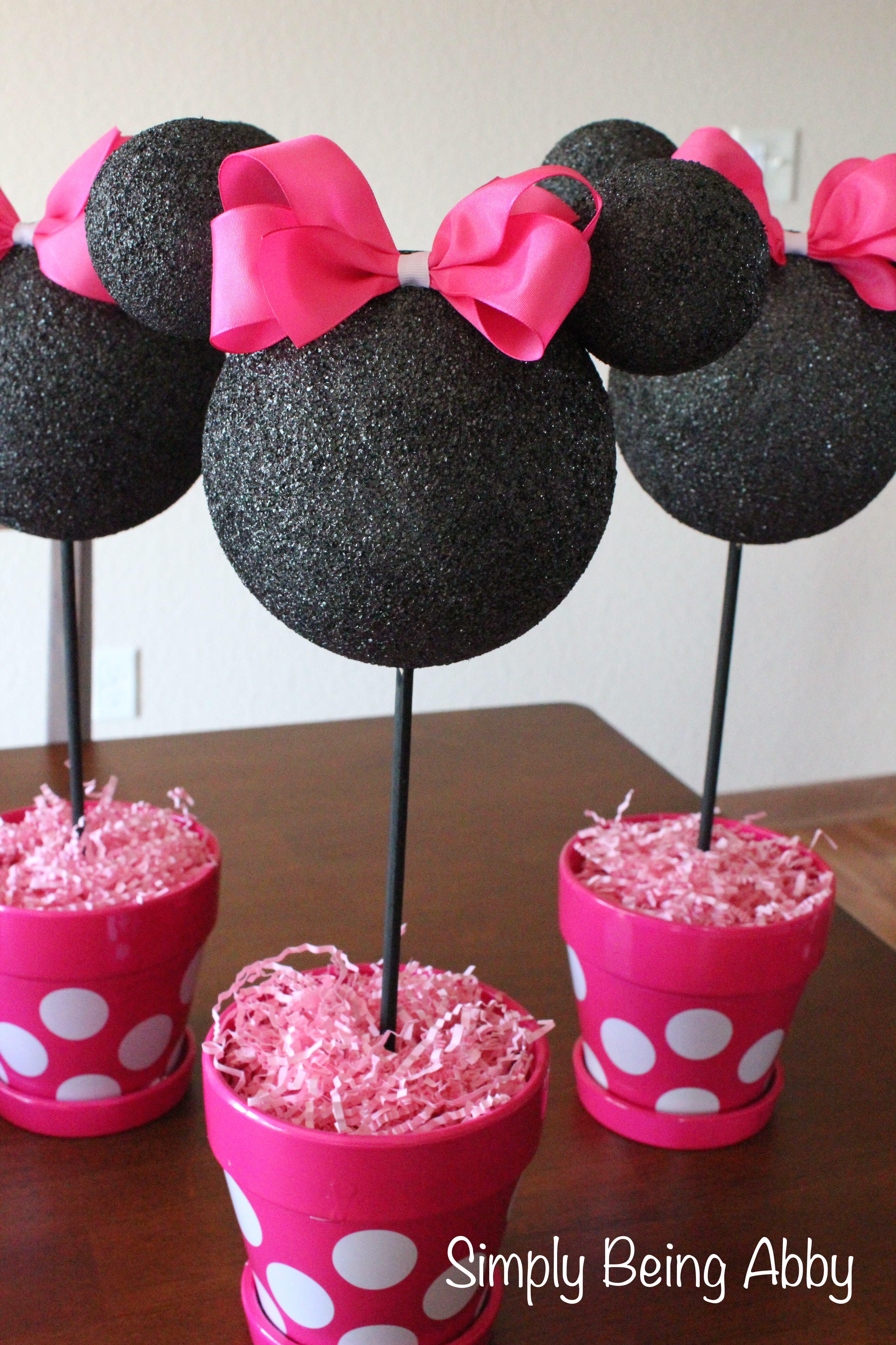 Best ideas about DIY Minnie Mouse Decorations . Save or Pin Minnie Mouse Centerpiece Decorations – Simply Being Abby Now.