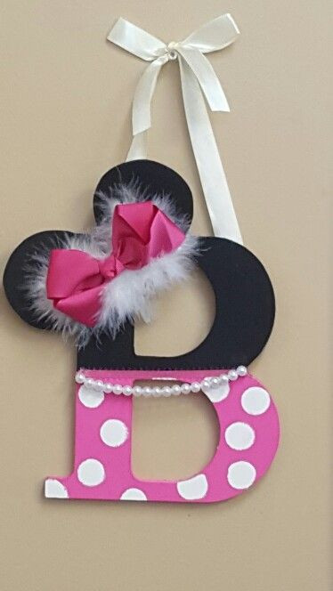 Best ideas about DIY Minnie Mouse Decorations . Save or Pin Minnie Mouse Letter diy in 2019 Now.