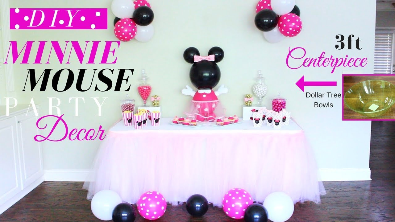 Best ideas about DIY Minnie Mouse Decorations . Save or Pin DIY 3Ft Minnie Mouse Centerpiece Now.