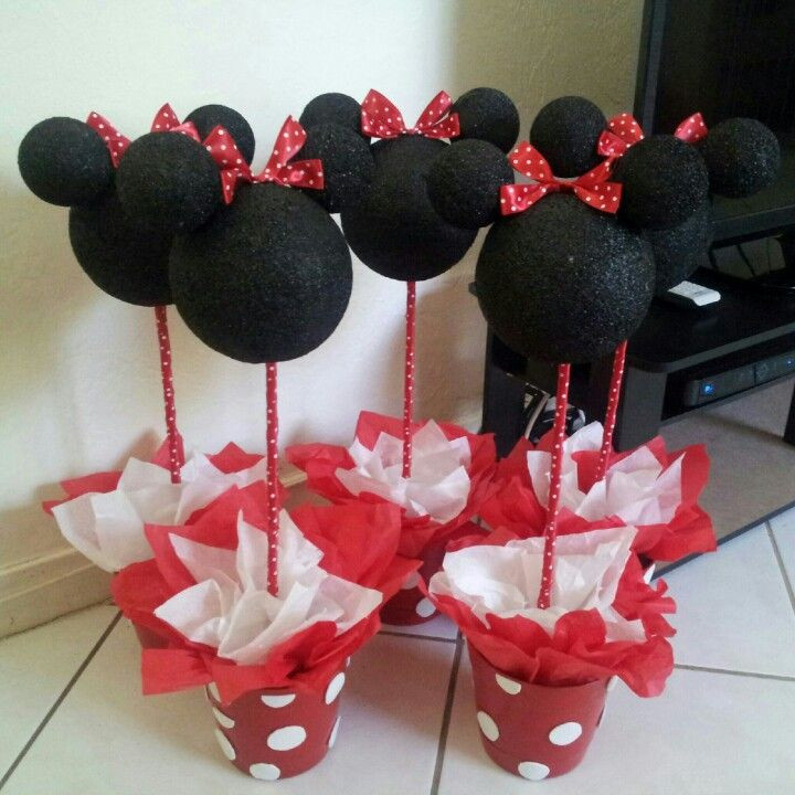 Best ideas about DIY Minnie Mouse Decorations . Save or Pin Diy Minnie Mouse centerpieces Now.