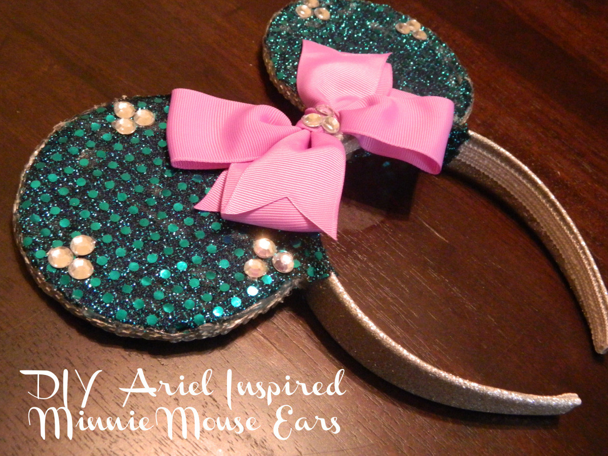 Best ideas about DIY Minnie Mouse Ears . Save or Pin DIY Ariel Inspired Minnie Mouse Ears Now.